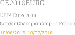 OE2016EURO UEFA Euro 2016 Soccer Championship in France 10/06/2016-10/07/2016